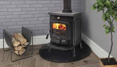 The Aran 5kW multi-fuel stove